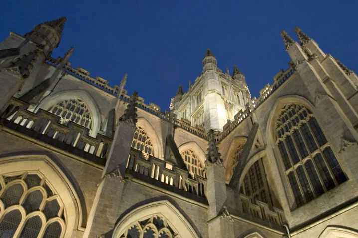 Bath Abbey At Dusk - ID: 538460 © Jim Miotke