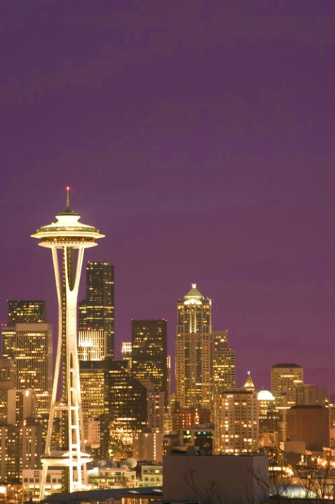 Space Needle and Purple Haze - ID: 538461 © Jim Miotke