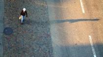 Pedestrian in Sunset