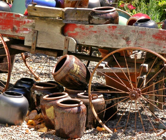 Wagon and Pots