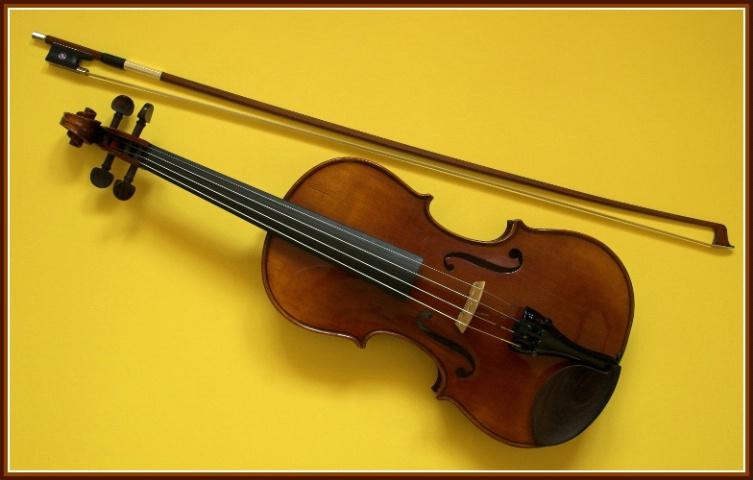 Violin on Yellow