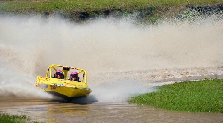 """""""True Blue Too"""" - V8 Jet Sprint boat racin"""