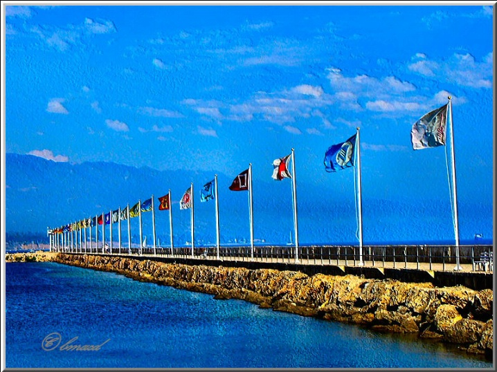 Flags on Breakwater
