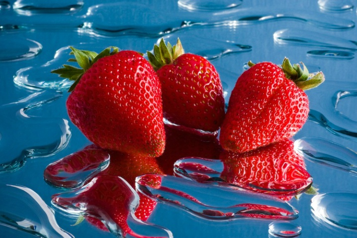 Three Strawberries