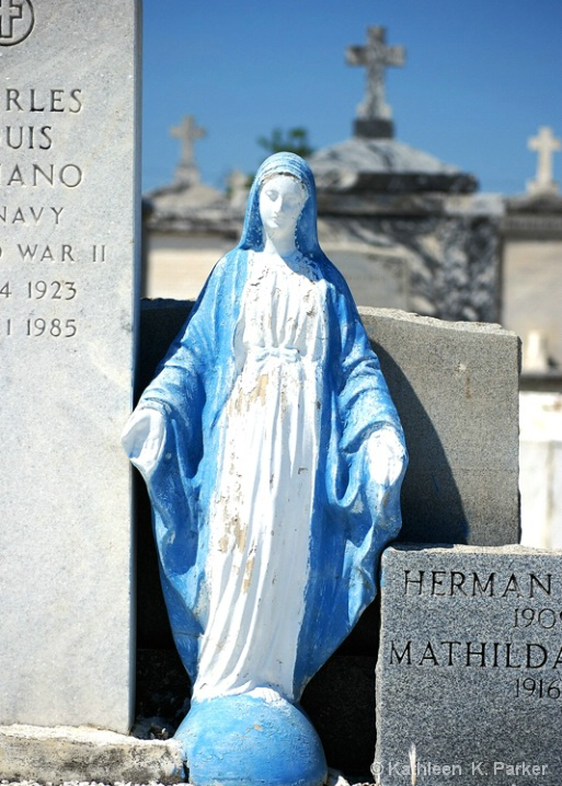 Mary Statue, New Orleans Greenwood Cemetery