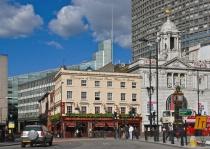 Crossing Victoria Street, London