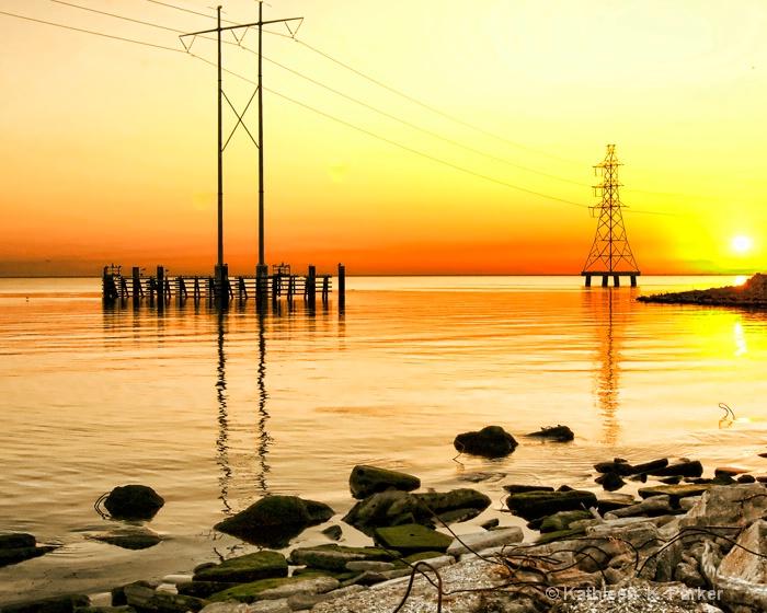Sunrise Begins on Lake Pontchartrain