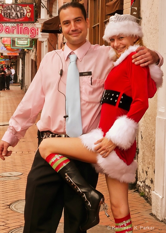 Santa's Helper,  Bourbon Street, New Orleans