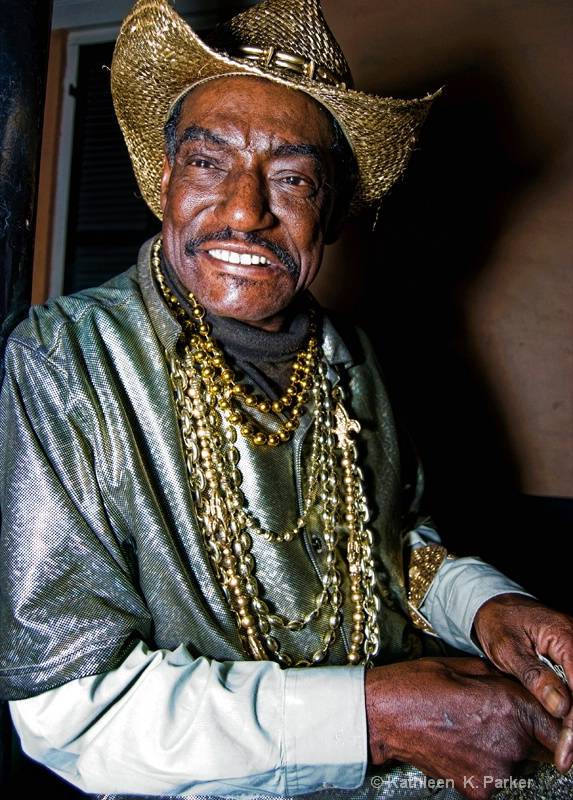 Night Street Portrait, New Orleans- Goldie!