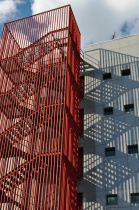 RED STAIRS AND SHADOWS