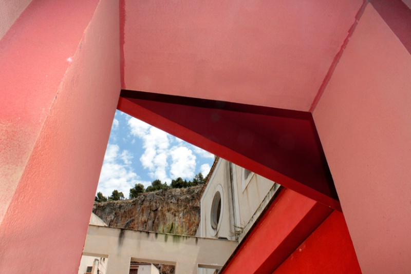Red Entrance with a View
