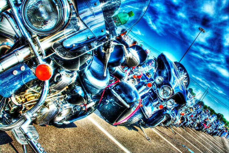 Motorcycle's on Parade