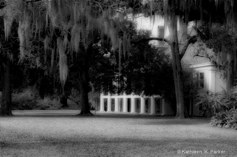 Destrehan Plantation, bw