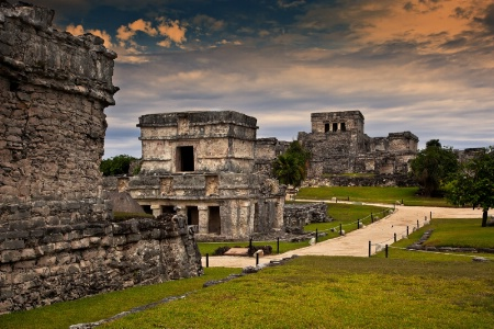 On the Streets of Ancient Tulum