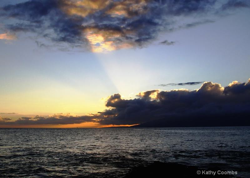 Sunset over Molokai.