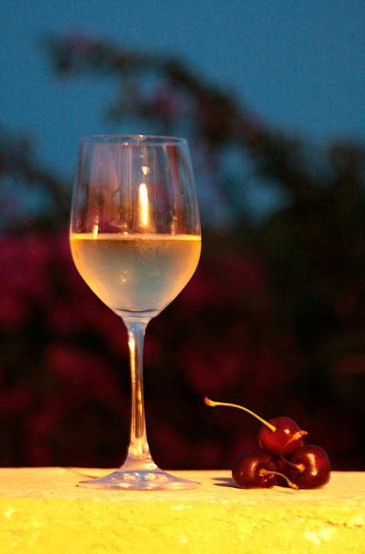 White Wine and Cherries