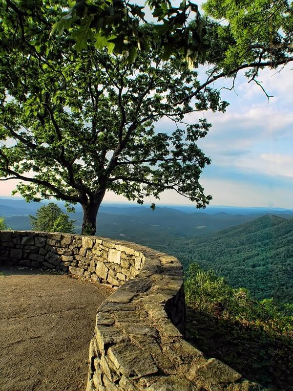 Rock Wall On The Blue Ridge Parkway - ID: 14082281 © Carolyn  M. Fletcher