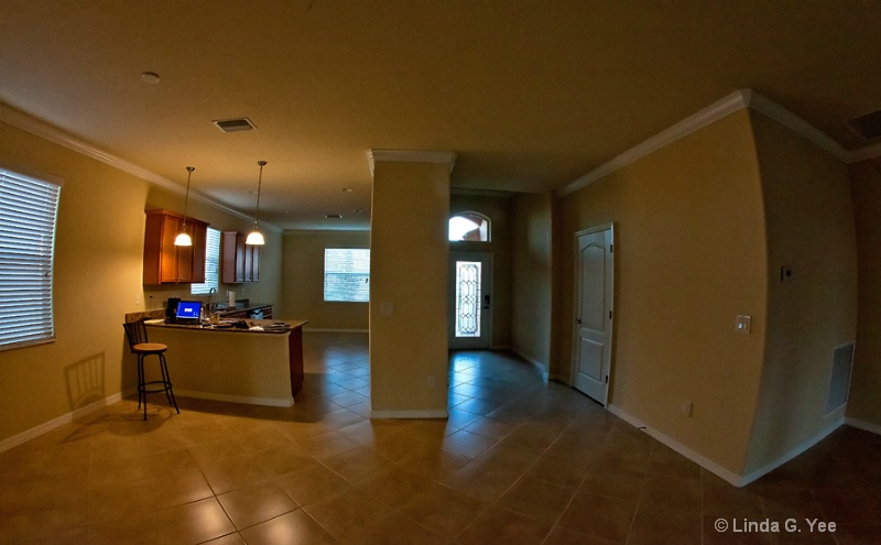 View of Entry Way and Kitchen