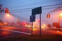 Foggy intersection