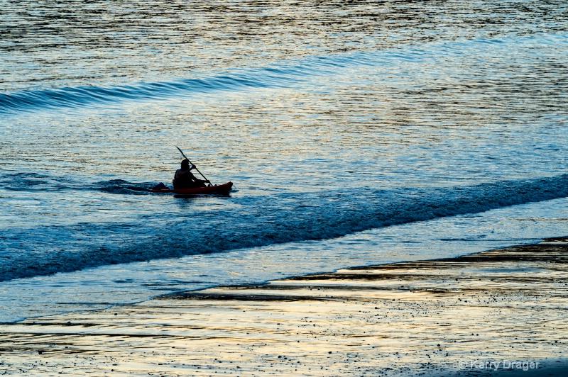 Kayaker Returning to Shore