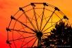 On a Ferris wheel...