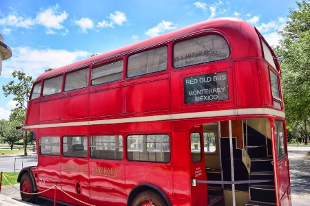 RED OLD BUS