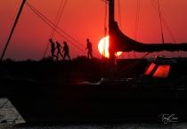 Sunset at Barcelona Harbor