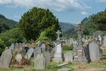 Very Old and Newer Gravestones at Glendalough