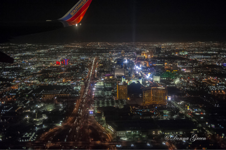 Night Flight over Las Vegas