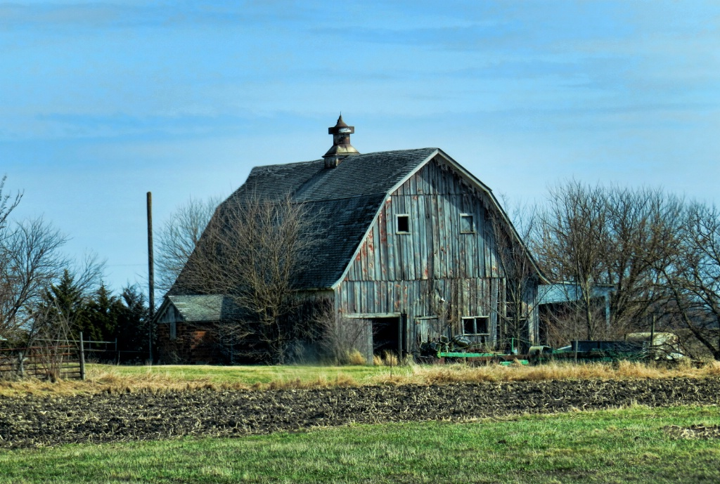 Barn In Iowa Countryside