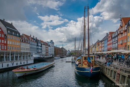 A View of Nyhavn, Copenhagen, Denmark
