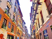 Colorfull balconies.