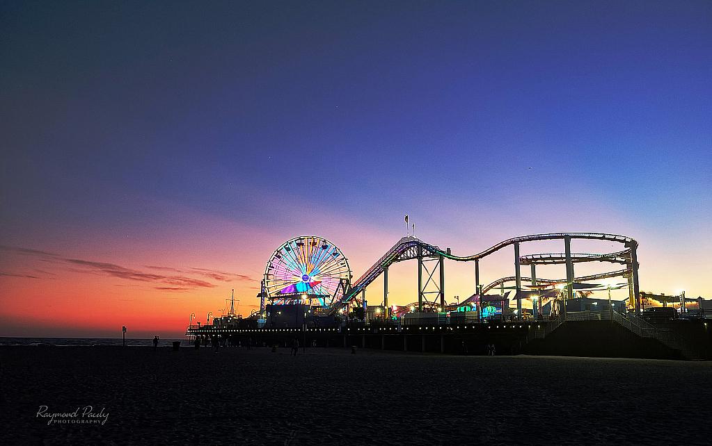 Neon Lights at Santa Monica Pier