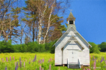 Church in the Lupines