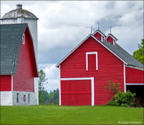 Shapes of Red Barns