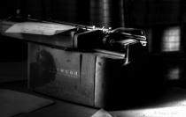 Underwood Typewriter Black and White