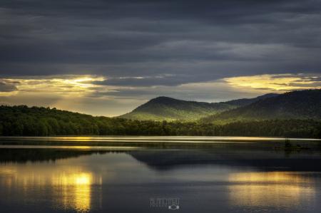 Sunrays over Indian Lake - Adirondacks
