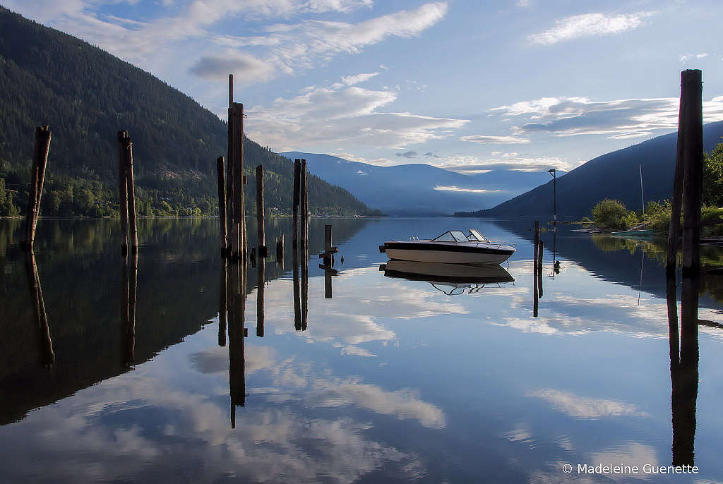 Moored on Kootenay lake