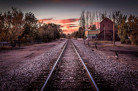 Down the train tracks
