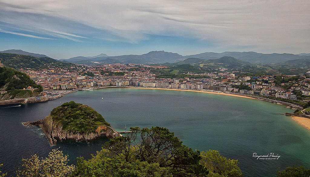 San Sebastian from Mount Igueldo