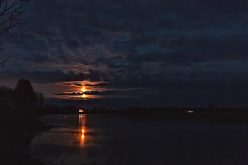 Dark Sky Over The River
