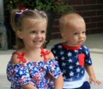 Patriotic Siblings