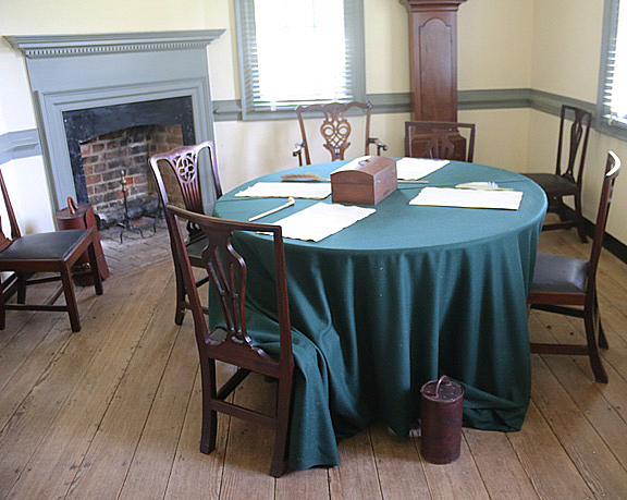 Y-7 Table where Yorktown surrender was signed  - ID: 15729464 © Donald E. Chamberlain