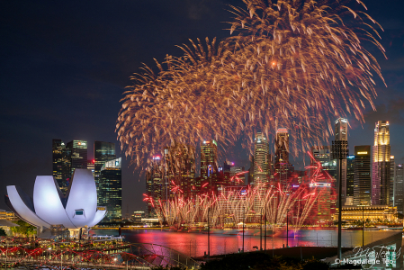 Composite of Singapore National Day Rehearsal