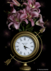 Clock with Flower...