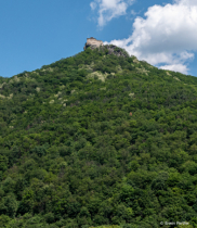Old castle on the high mountan.