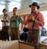 Ships management team in the Austrian outfits.