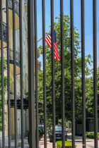 American flag on the American Embassy