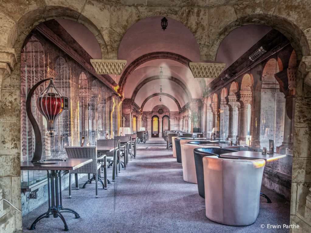 A beautiful restaurant on the castle hill.