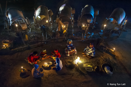 night life of villagers